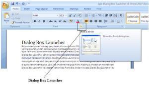 Dialog Box Launcher